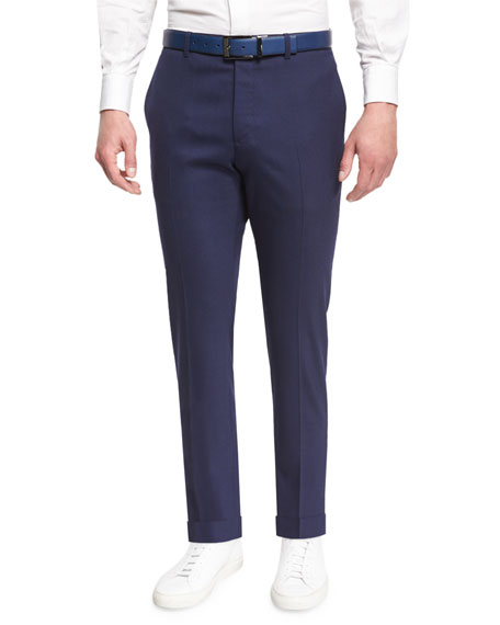 Theory Marlo Prosperous Flat-Front Dress Pants, Retreat