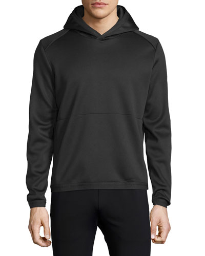 Ormond Long-Sleeve Hooded Sweatshirt, Black