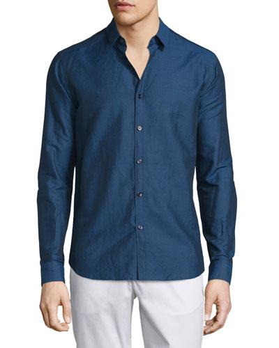 Zack PS Long-Sleeve Sport Shirt, County Line