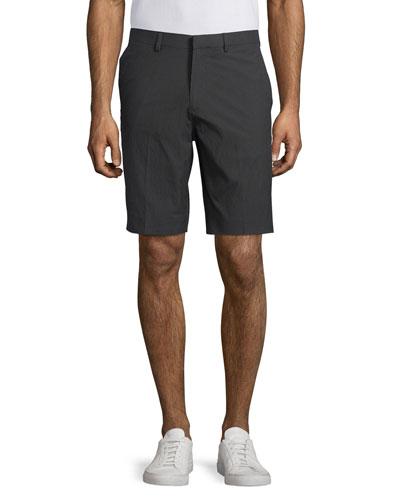 Beck Flat-Front Stretch-Twill Shorts, Night Multi