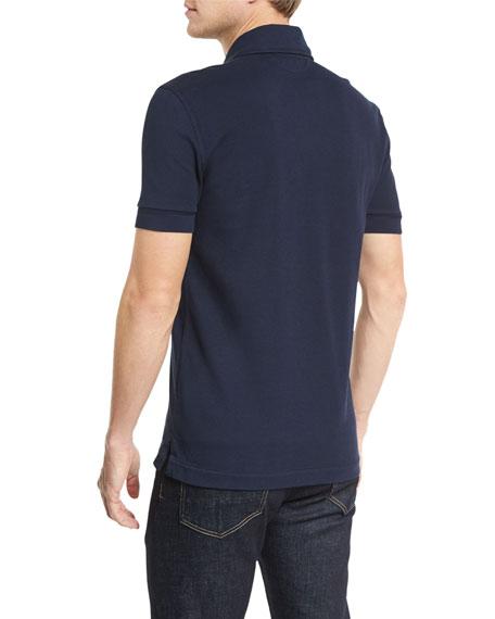 Short-Sleeve Polo Shirt, Navy