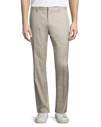 Slim-Fit Stretch Travel Trousers, Tan