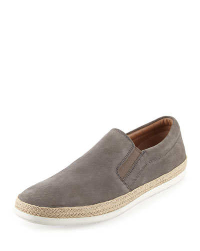 Chance Suede Espadrille Sneaker, Light Gray