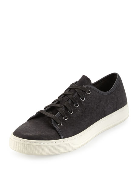 Vince Austin Leather Low-Top Sneaker, Black