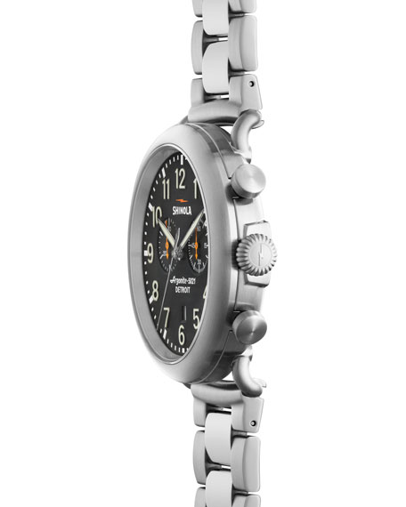 Men's 47mm Runwell Chronograph Watch, Steel/Gray
