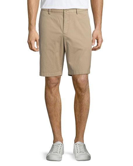 Michael Kors Chino Flat-Front Twill Shorts, Khaki