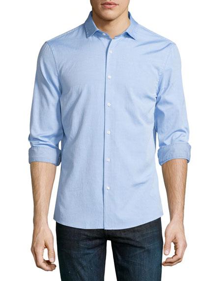 Michael Kors Slim-Fit Long-Sleeve Oxford Shirt, Light Blue