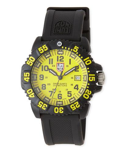 Luminox Navy Seal Colormark 3050 Series Watch, Yellow/Black