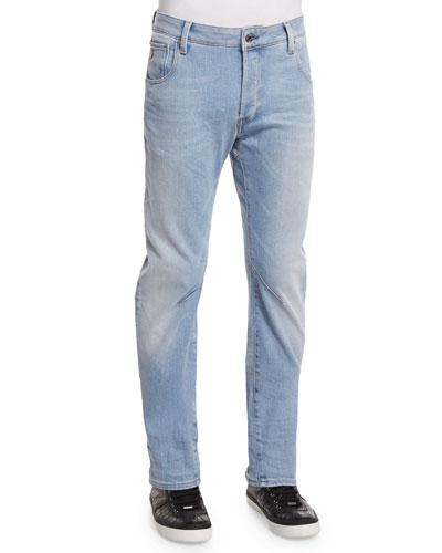 G-Star Arc 3D Aged Slim Denim Jeans, Light