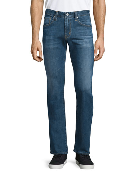 AG Adriano Goldschmied Matchbox Medium Blue Denim Jeans, Thornbush