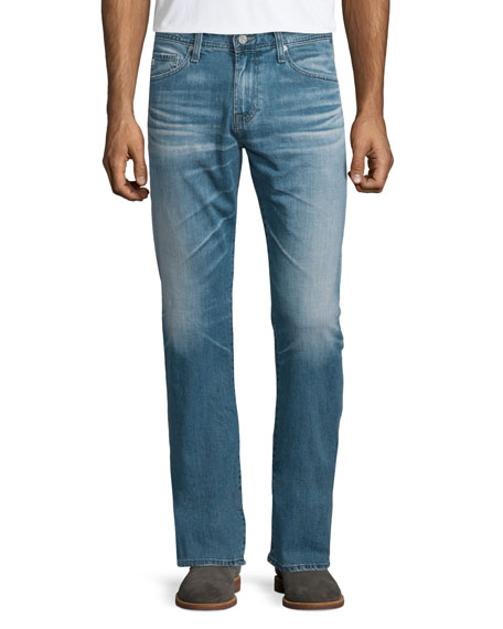 AG Adriano Goldschmied Graduate Medium-Blue Denim Jeans, Muir