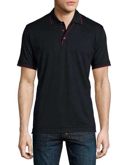 Robert Graham Marlow Short-Sleeve Polo Shirt with Contrast