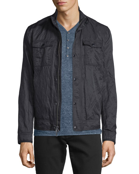 John Varvatos Star USA Mixed Media Zip Jacket,