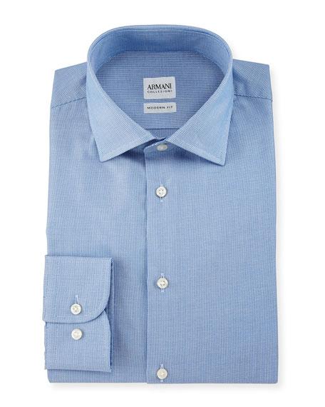 Armani Collezioni Modern Fit Micro Rope-Print Dress Shirt,