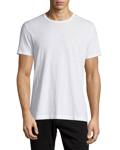 VinceSlub Jersey Crewneck T-Shirt, White