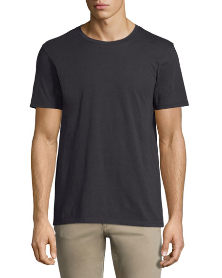 Vince Short-Sleeve Pima Crewneck Jersey T-Shirt, Black