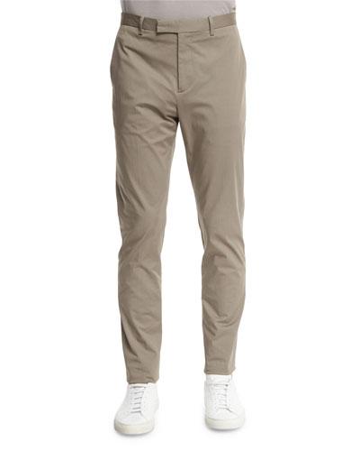 Lenix Flat-Front Stretch-Knit Pants, Beige