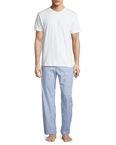 Neiman Marcus Men's Two-Piece Boxed Pajama Set w/