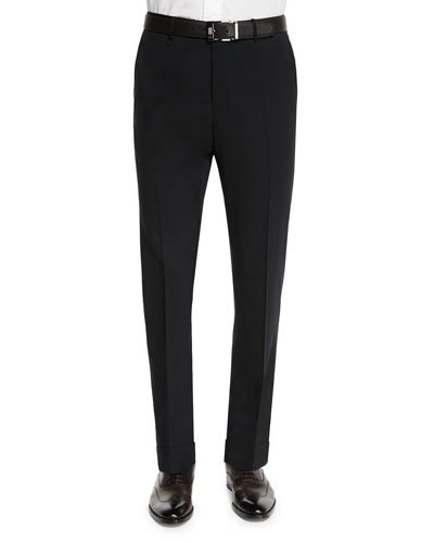 Benson Standard-Fit Lightweight Trousers, Black
