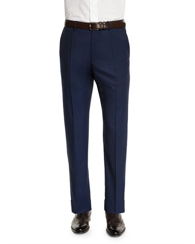 Benson Standard-Fit Lightweight Trousers, Navy