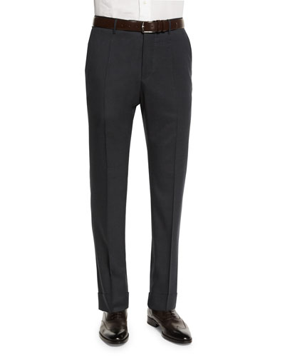 Benson Standard-Fit Lightweight Trousers, Charcoal