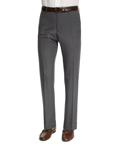 Benson Standard-Fit Lightweight Trousers, Gray