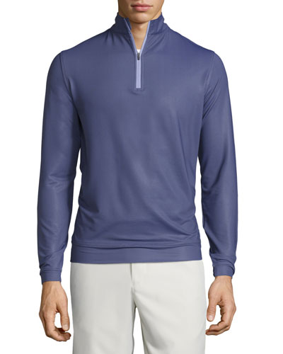 Perth Herringbone Quarter-Zip Sweater, Purple