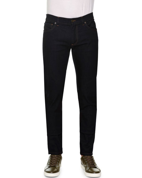 Dolce & Gabbana Five-Pocket Slim-Fit Jeans with Embroidered