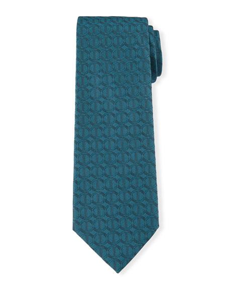 Icon Silk Tie, Teal