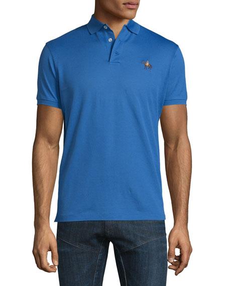 Ralph Lauren Pony-Embroidery Short-Sleeve Pique Polo Shirt, Blue