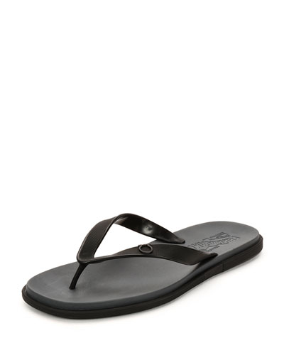 Guinea Gancino Flip-Flop Sandal, Black