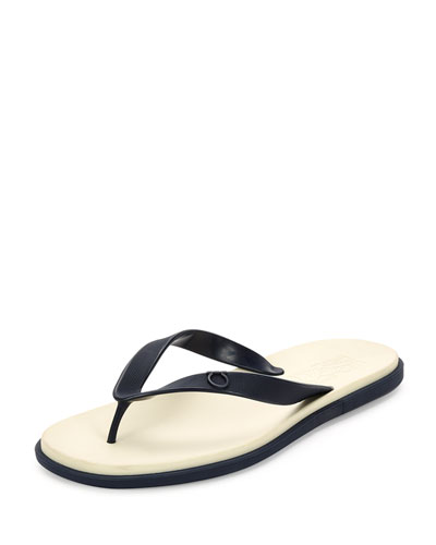Guinea Gancino Flip-Flop Sandal, Blue Marine