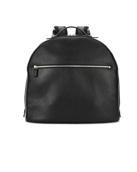 Salvatore Ferragamo Revival Leather Backpack, Black