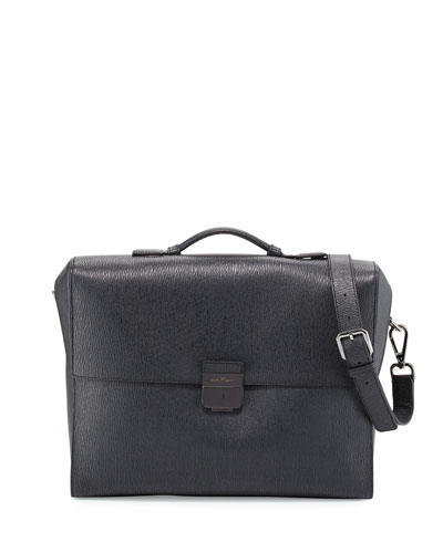 Revival 2.0 Leather Briefcase, Gray