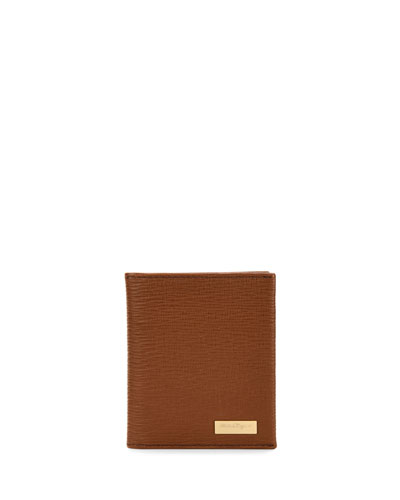 Revival Radica Bi-Fold Vertical Card Case, Light Brown