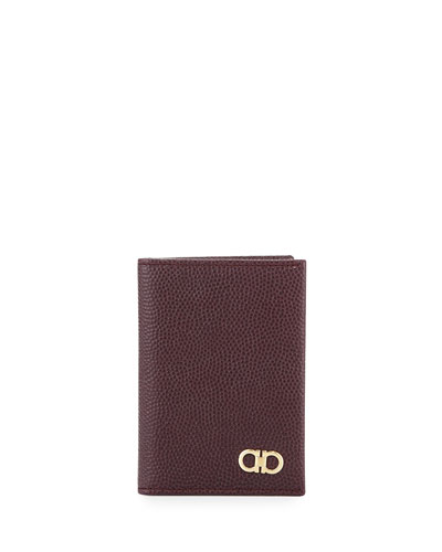 Ten-Forty One Bi-Fold Leather Card Case, Bordeaux