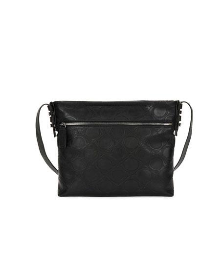 Salvatore Ferragamo Men's Gancini-Embossed Vegan-Leather Shoulder Bag