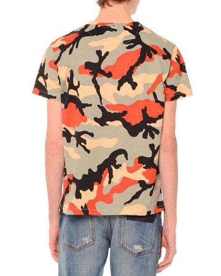 Valentino camo print short sleeve t shirt multi for Camo print t shirt