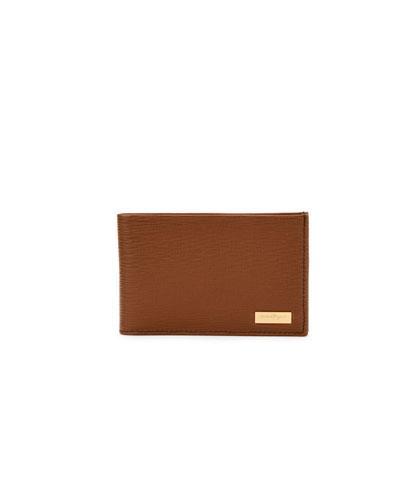 Revival Radica Leather Bifold Wallet, Light Brown
