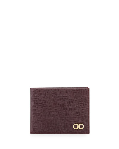 Ten-Forty One Leather Bi-Fold Wallet, Bordeaux