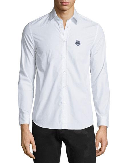 Moschino Uomo Button-Front Dress Shirt, White/Multi
