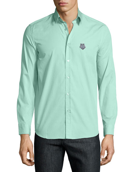 Moschino Uomo Button-Front Dress Shirt, Mint