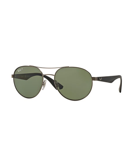 Ray-Ban Men's Round Aviator Sunglasses, Green