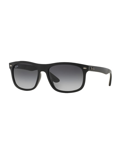 Ray-Ban Men's Flat-Top Plastic Sunglasses, Black