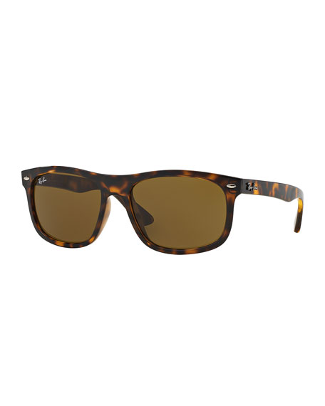 Ray-Ban Men's Flat-Top Plastic Sunglasses, Havana