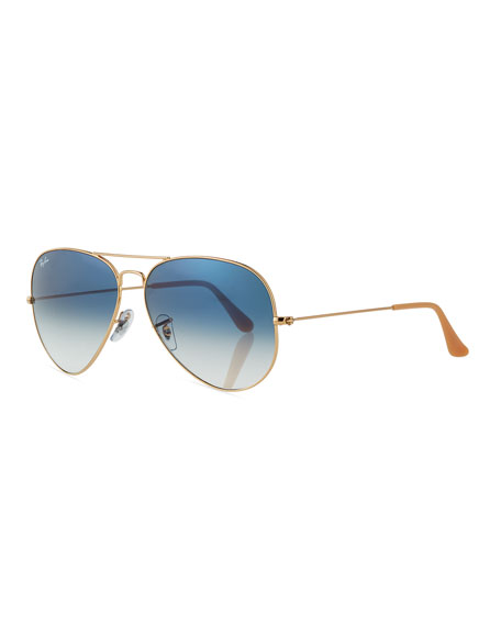 Ray Ban Ray-Ban Original Aviator Sunglasses, Golden/Gray