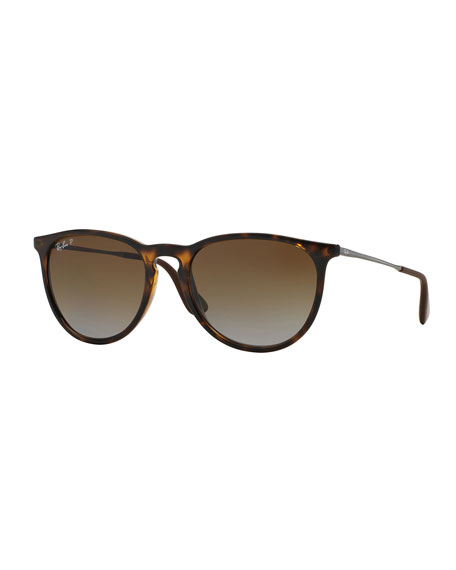 Men's Round Metal Sunglasses, Havana
