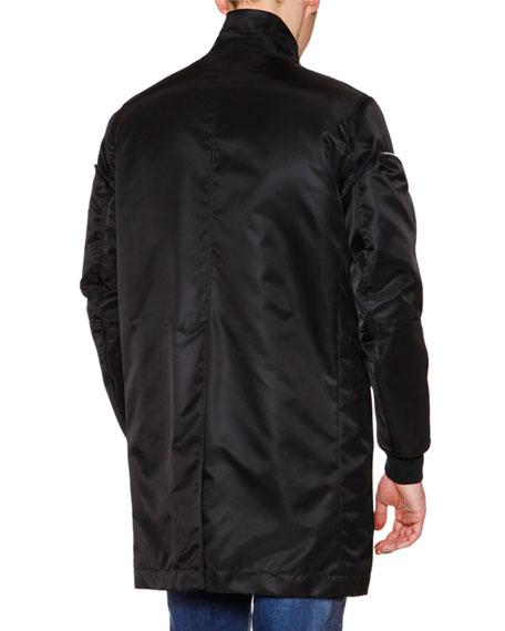 Oversized Jacket W/Allover Zip Details, Black