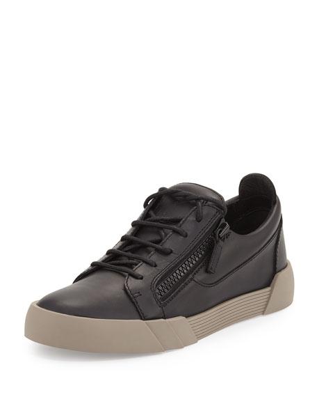 Giuseppe Zanotti Men's Leather Low-Top Sneaker, Black