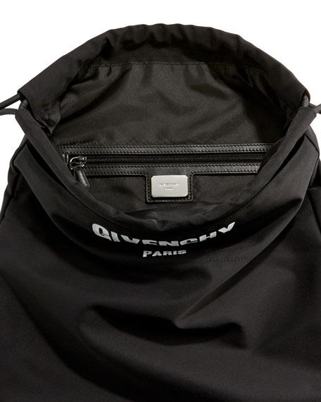 Rave Paris Men's Logo Drawstring Backpack, Black